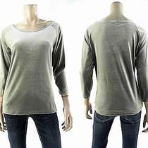 New Gap Stretch Womens Size L Velvet Blouse Top Pull Over Crew Neck Solid Deals Photo