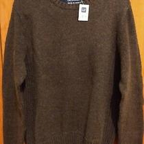 New  Gap Sweater Small Mens S Dark Brown Cotton Nylon Wool Spandex  Photo