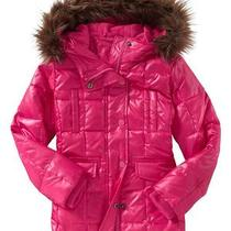 New Gap Warmest Down Jacket Winter Long Coat Hot Pink/ Bright Claret Girl 12 Xl Photo