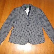 New Gap Women's Chambray Blue Polka Dot Academy Blazer Jacket Sz 8 Nwt Career Photo