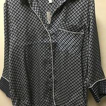 New Gap Womens Luxe Lounge Pajama Pjs Top Shirt Silky Diamond Floral S L Xl 59 Photo