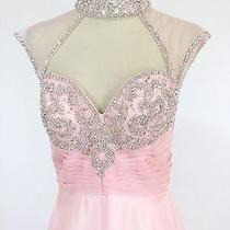 New Genuine Jovani 98546 Blush Wedding Bridal Evening Gown Women Dress 6 Photo