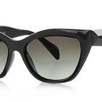 New Genuine Prada Ladies Poeme Collection Black Sunglasses Pr 02qs Spr 02q O2q Photo