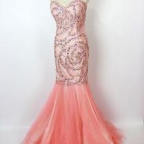 New Genuine Terani 151p0110 Blush Mermaid Pageant Bridal Women Gown Prom 8 Photo