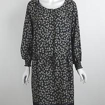 New Gerard Darel 100% Polyester Black Blue Beige Floral Print Dress Sz 10 Us Nwt Photo