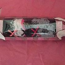 New Gift Set Box  Lot 3 Victoria's Secret Three Cheekini Panties Pink Black  S Photo