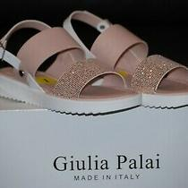 New Girl's Giulia Palai Made in Italy Sandals Blush/ Rose Sparkle Size 1 Youth Photo
