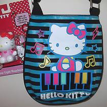 New Girl's  Music Piano Hello Kitty Canvas Handbag Crossbody Bag 9