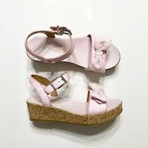 New Girls Ugg Cork Wedge Bow Sandals  Size 4 Youth  Nwob Photo
