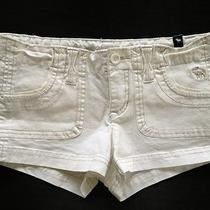 New Girls Abercrombie Pretty White Mini Shorts Size 10 Photo