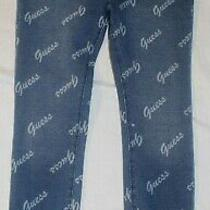New Girls Guess Denim Colored Logo Jeggings Size 5 Photo