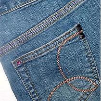New Girls Hurley Demin Jean Shorts Pink Rhinestones Macys With Tags Sz 12 W 26