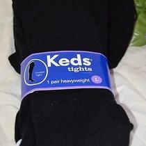 New Girls Keds Heavyweight Footed Tights Dress Casual Sz L 10-14 Yrs 75-90 Lbs Photo