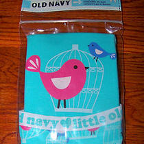 New Girls Old Navy 2pc Blue Aqua White Pink Purple Bird Cage Pajamas Size 4t Photo