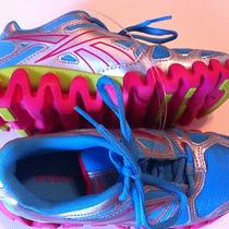 New  Girls Size 1 Reebok Zig Shoes  Pink Blue Aqua Green Zigtech  Running Photo
