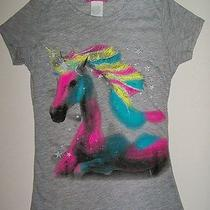 New Girls Sz 7 8 Unicorn Shirt Horse Fantasy Read Listing About Size Please Photo
