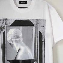New Givenchy Auth. 515 Roman Head Graphics Shirt Columbian Fit White Tee Photo