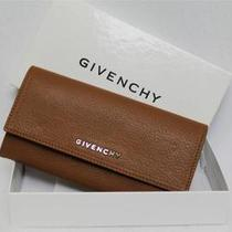New Givenchy Camel Continental Large Leather Wallet Clutch in Box Bag  Msrp 675 Photo