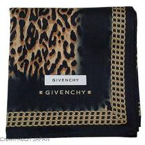 New Givenchy Cotton Scarf Black Leopard Chain Print Japan-Made Limited Licensed Photo