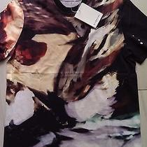 New Givenchy Cuban Fit Paint Abstract Print T-Shirt Jersey  Cotton Men's Size M Photo