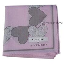 New Givenchy G Logo Handkerchief / Mini Scarf Heart Print L.pink Japan-Made Rare Photo