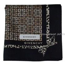 New Givenchy Handkerchief / Mini-Scarf Black G Monogram Leopard Ribbon Licensed Photo