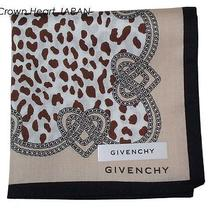 New Givenchy Handkerchief / Mini Scarf Leopard Heart-Chain Cotton Japan Licensed Photo