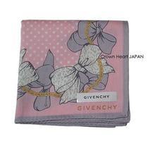 New Givenchy Handkerchief / Mini Scarf Leopard Ribbon Dot Pink Japan Rare Photo