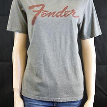 New Global Works Urban Outfitters Gray Fender Guitar Short Sleeve Tee Large Photo