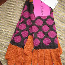 New Gloves Betsey Johnson Polka Dot Brown Pink Photo