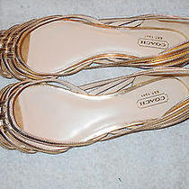 New Gold Coach Women Shoes Size 8 Flat Photo