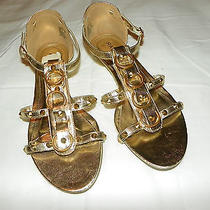New Gold Rampage Gladiator Style Spiked Sandals Size 7.5 Sexy Photo