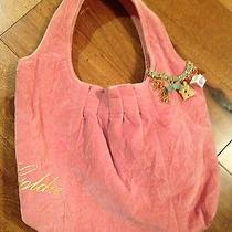 New Goldie Sexy Blush Velvet Pink Crushed Velvet Hobo Bag Purse Tote  Photo