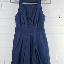 New Gorgeous Cotton Theory Dress Sleeveless Navy Blue Size 8 Retail 150 Photo