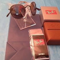 New Gorgeous Rayban Rb3517 029/n8 51 3p Gunmetal/grey Folding Round Sunglasses Photo