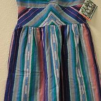 New Gorgeous Roxy Women's Strapless Fall Doll Dress Size L Multi-Color  Photo