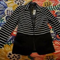 New Grace Elements Black & White Striped Blazer Size 10. Originally 69 Photo