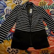 New Grace Elements Black & White Striped Blazer Size 10. Originally 69 Photo