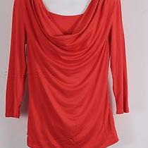 New Grace Elements Drape Neck Top M Medium Free Shipping Womens Red Photo
