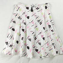 New Grace Elements Summer Skirt 14 Pink Black Flared Fun Fashion Print 68 Photo