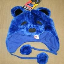 New Grateful Dead Blue Dancing Bear Adult Laplander Hat Winter Fuzzy Soft Warm Photo