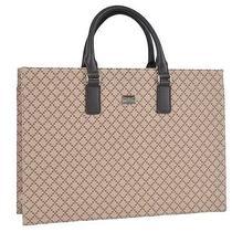 New Gucci 190630 Beige Brown Diamante Briefcase Business Purse Bag Photo