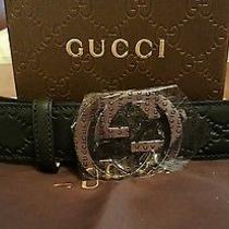New Gucci Belt Black Guccisimma 90cm/36in Fits 30-32 Photo