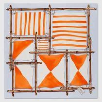 New Gucci Blue Orange Large Nautical Elements Print Silk Scarf 3714833 4976 Photo