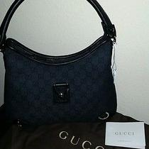 New Gucci Hobo Handbag Purse .black Photo