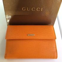 New Gucci Leather Orange Wallet Photo
