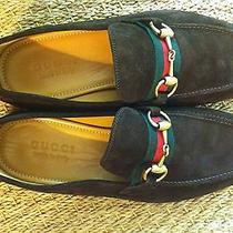 New Gucci Mens Shoes Size 8 Brown With Horsebit Photo