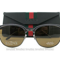New Gucci Sunglasses Gg 2227/s Gray Dark Ruthenium 7drhk Authentic Photo