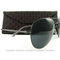 New Gucci Sunglasses Gg 2245/s Dark Ruthenium Aviator Kj14x Authentic Photo