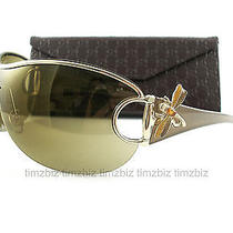 New Gucci Sunglasses Gg 2747/s Gold Brown Ehgtz Crystal Dragonfly Authentic Photo